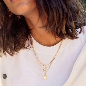 Urban Outfitters Layered Ring Charm Necklace